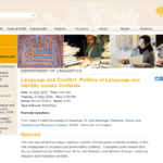 Language and Conflict: Politics of Language and Identity across Contexts