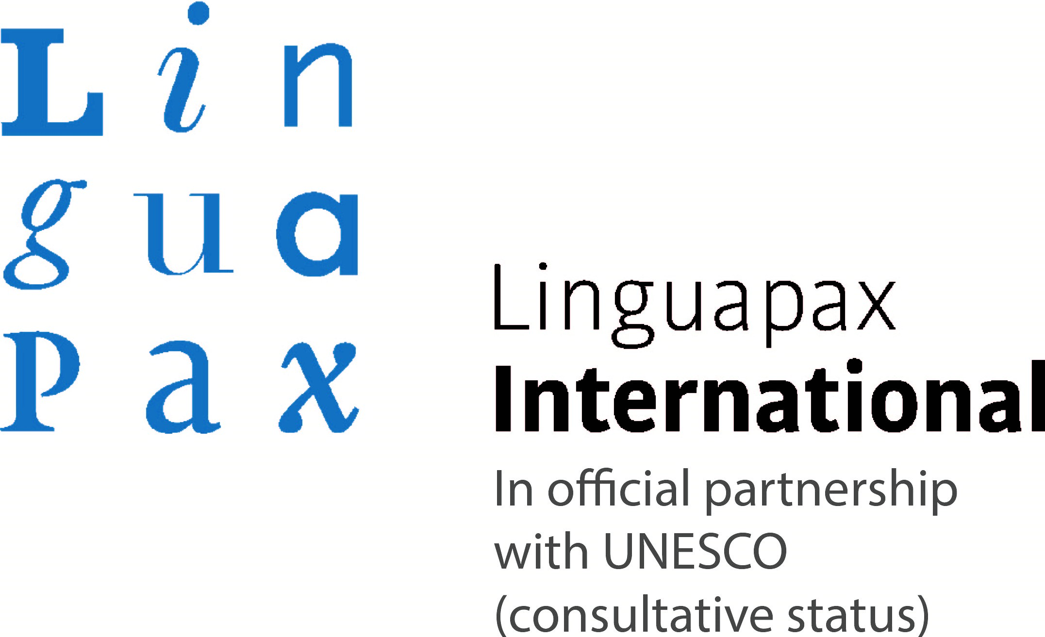 Logo Linguapax in official parternship with UNESCO